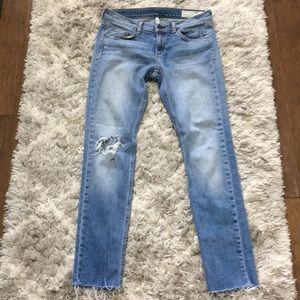 Rag & Bone Dre Distressed Frayed Hem Slim Jeans